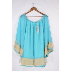 NWT Flowy Dual Pattern Dress